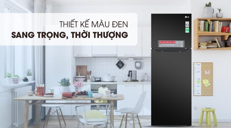 Tủ lạnh LG GN-M315BL thiết kế hiện đại với màu đen sang trọng