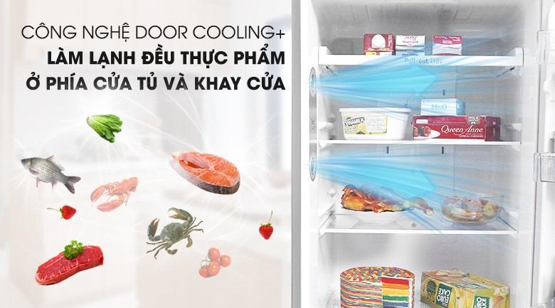 công nghệ Door COOLING + làm lạnh đều thực phẩm
