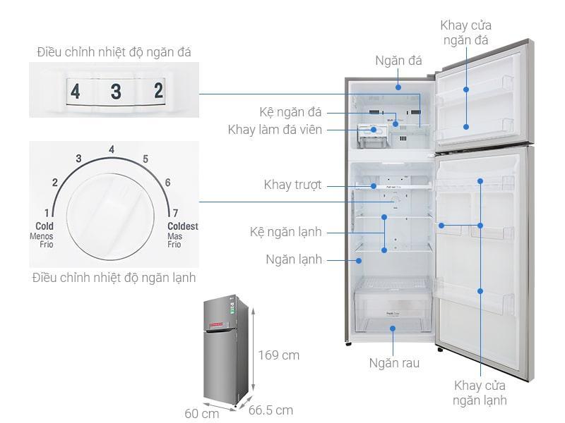 Các bộ phận chi tiết Tủ lạnh LG GN-M315PS