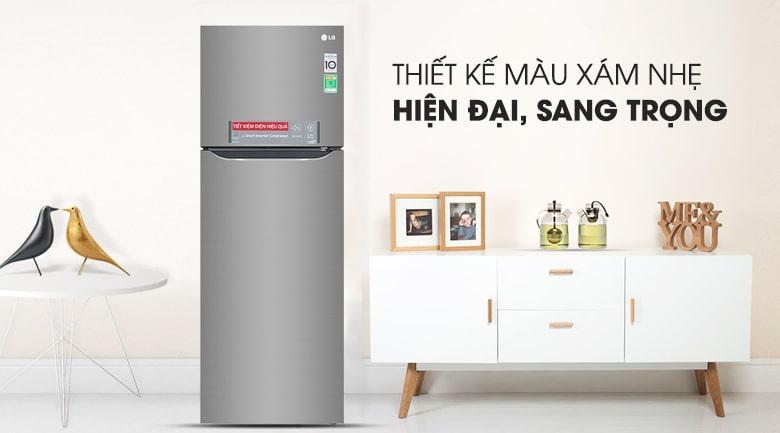 Tủ lạnh LG GN-M315PS có thiết kế màu xám nhẹ hiện đại sang trọng