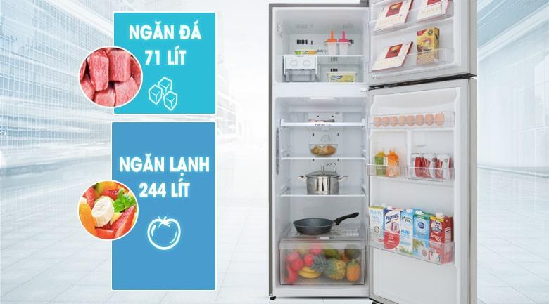 Tủ lạnh LG GN-M315PS dung tích cho từ 3-5 người sử dụng