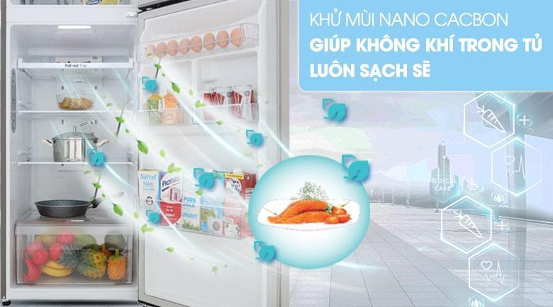 khử mùi NANO CACBON giúp không khí trong tủ luôn sạch sẽ