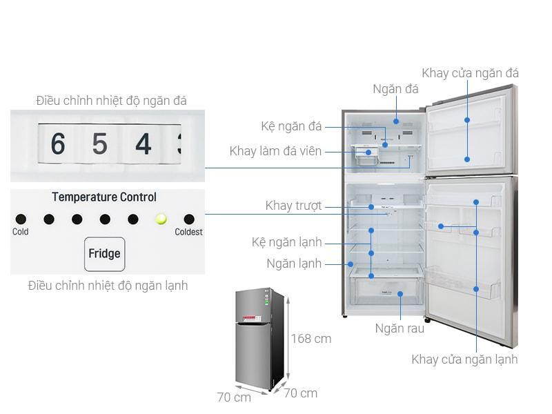 các bộ phận chi tiết của Tủ lạnh LG GN-M422PS