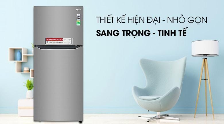 Tủ lạnh LG GN-M422PS thiết kế hiện đại-nhỏ gọn,sang trọng-tinh tế