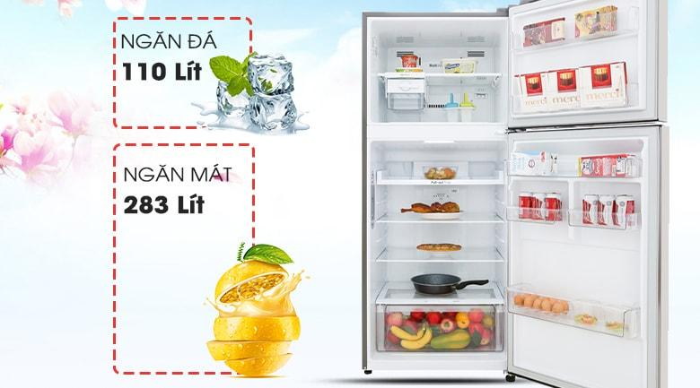 Tủ lạnh LG GN-D422PS dung tích lên đến 393 lít
