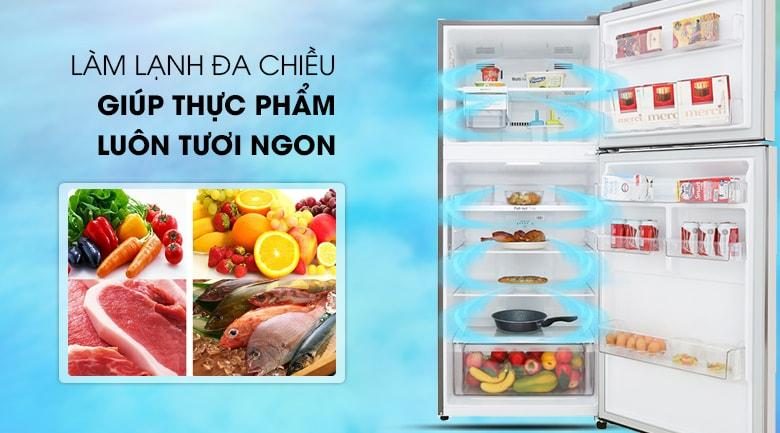 hệ thống làm lạnh đa chiều giúp thực phẩm luôn tươi ngon