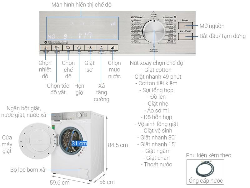 Máy giặt Panasonic 10Kg NA-120VG6WV2