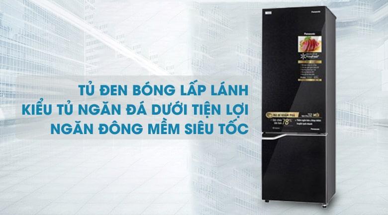 Tủ lạnh Panasonic NR-BC360QKVN hiện đại,sang trọng