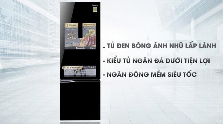 Tủ lạnh Panasonic NR-BC369QKV2 thiết kế sang trọng,đẳng cấp