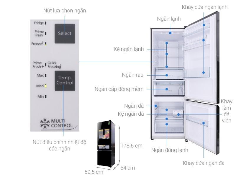 các bộ phận của Tủ lạnh Panasonic NR-BC369QKV2