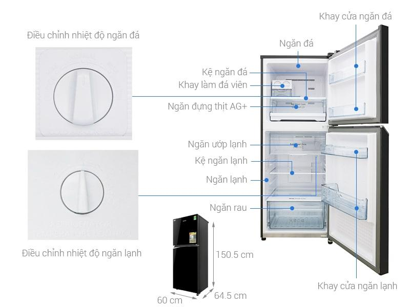 các bộ phận của Tủ lạnh Panasonic NR-BL300PKVN