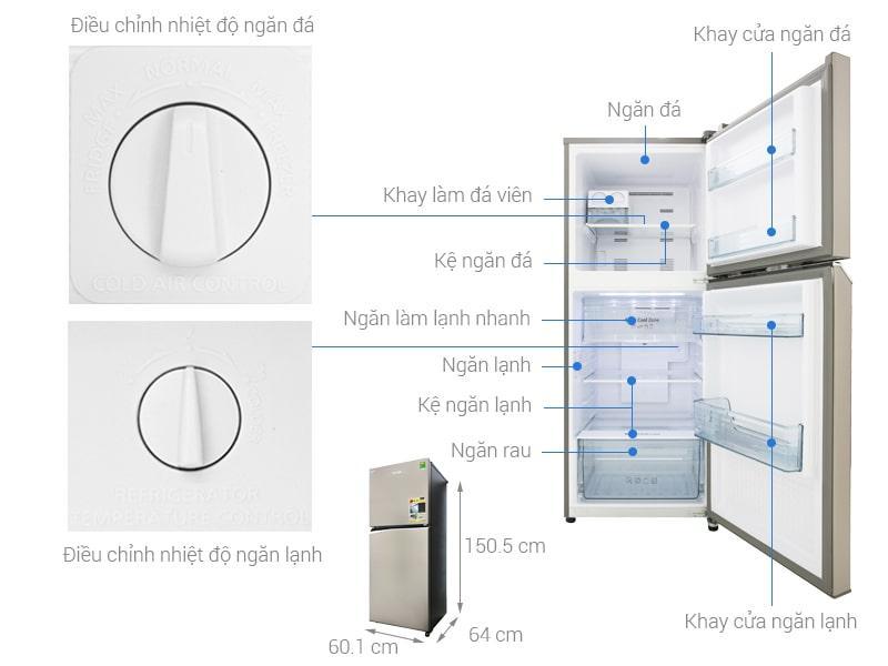 các bộ phận của Tủ lạnh Panasonic NR-BL300PSVN