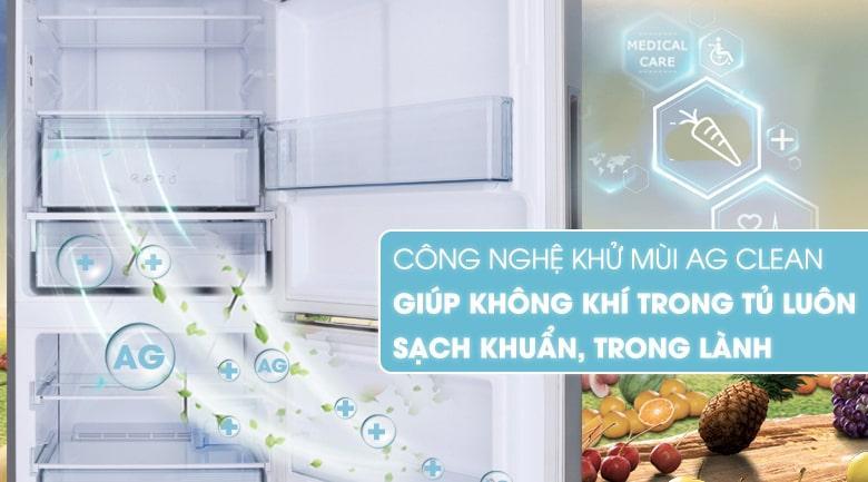 công nghệ khử mùi Ag Clean giúp không khí trong tủ sach khuẩn