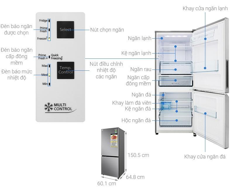 các bộ phận của Tủ lạnh Panasonic NR-BV280QSVN