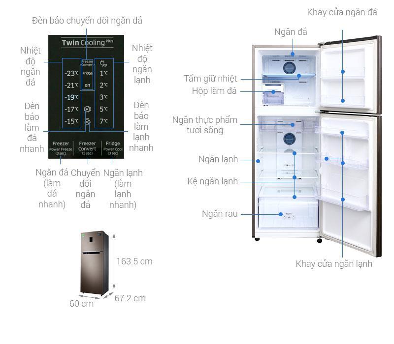 các bộ phận chi tiết của Tủ lạnh Samsung RT29K5532DX/SV