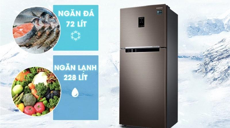 Tủ lạnh Samsung RT29K5532DX/SV có dung tích 300 lít
