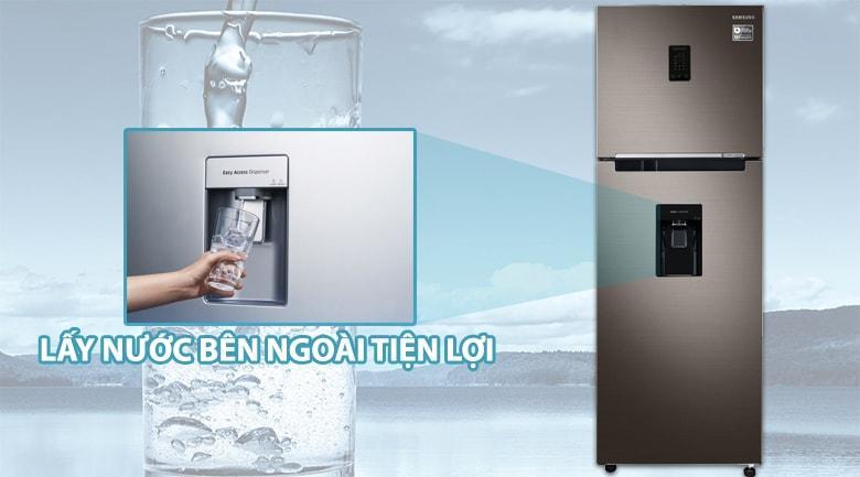 Tủ lạnh Samsung RT32K5930DX/SV tiện lợi lấy nước bên ngoài