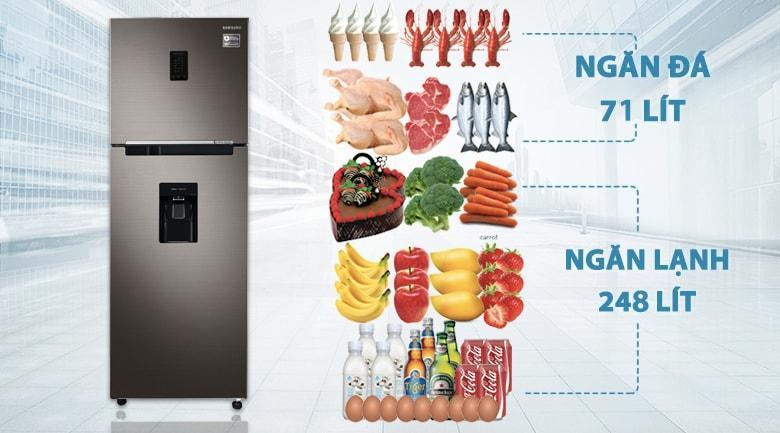 Tủ lạnh Samsung RT32K5930DX/SV có dung tích lên tới 319 lít