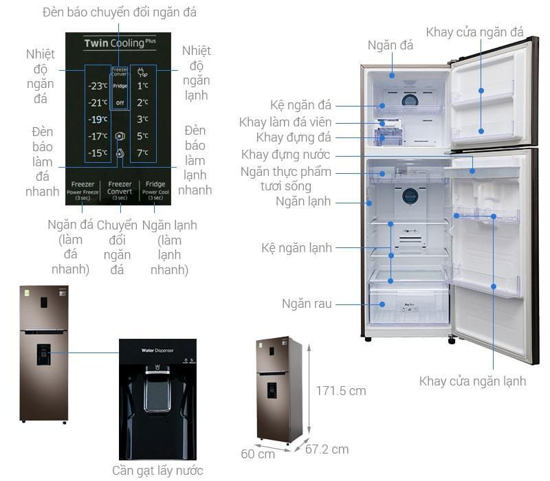 các bộ phận của Tủ lạnh Samsung RT32K5930DX/SV