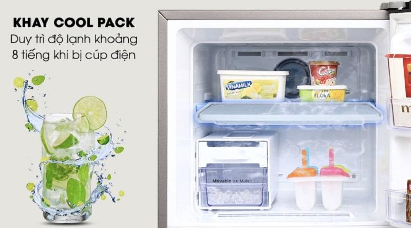 Khay COOL PACK duy trì nhiệt độ khoảng 8 tiếng khi bị cúp điện