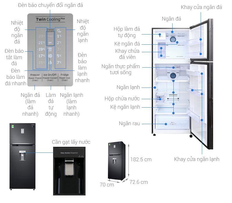 các bộ phận của Tủ lạnh Samsung RT46K6885BS/SV