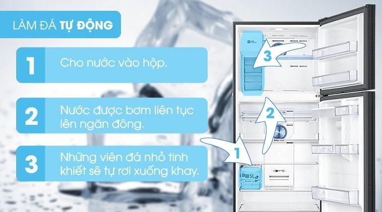 Tủ lạnh Samsung RT46K6885BS/SV làm đá tự động tiện lợi