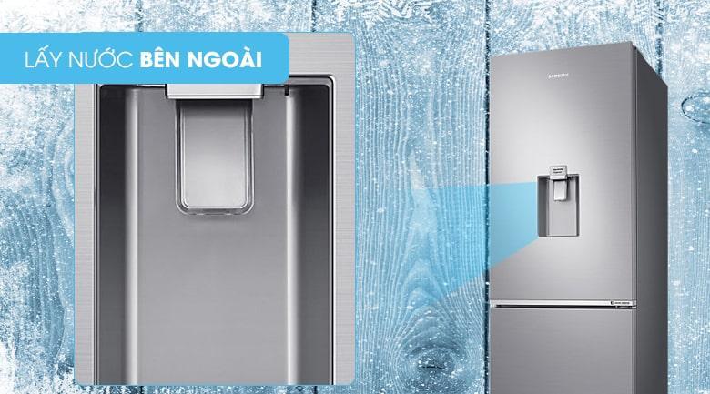Tủ lạnh Samsung RB30N4170S8/SV lấy nước bên ngoài