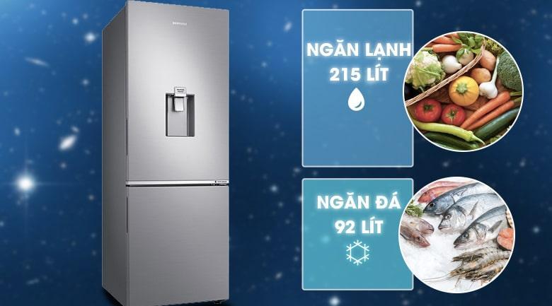 Tủ lạnh Samsung RB30N4170S8/SV có dung tich 307 lít