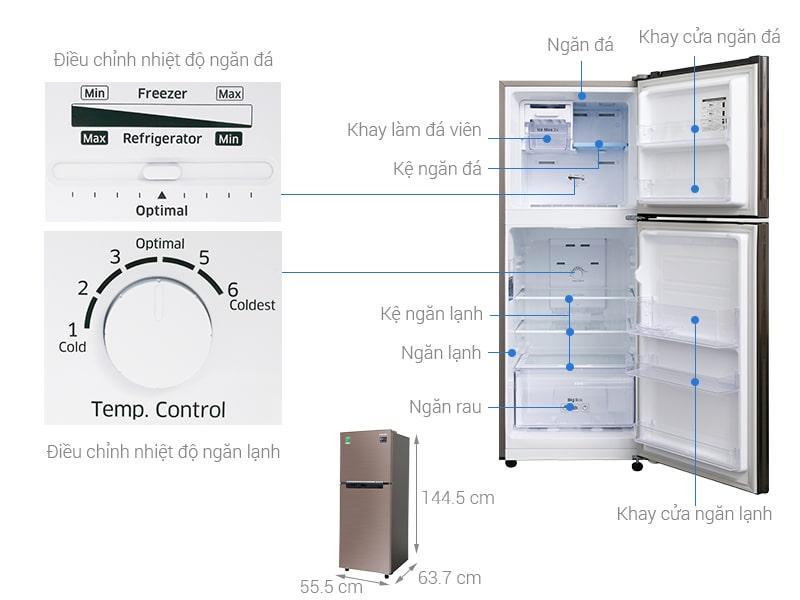 các bộ phận chi tiết của Tủ lạnh Samsung RT20HAR8DDX/SV