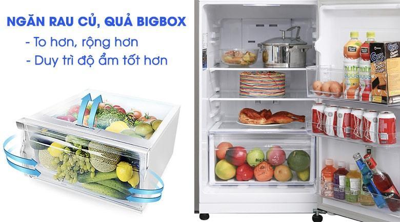 Tủ lạnh Samsung RT20HAR8DDX/SV có ngăn rau củ quả BIGBOX