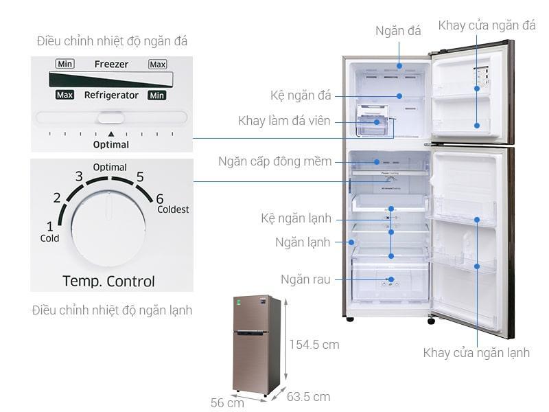 các bộ phận chi tiết của Tủ lạnh Samsung RT22M4032DX/SV
