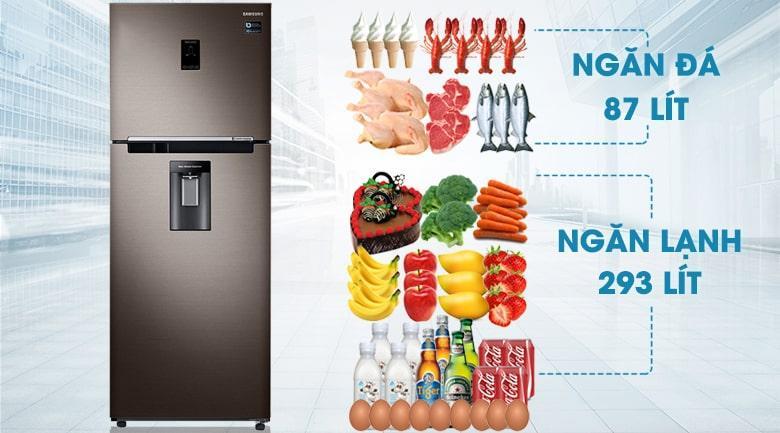 Tủ lạnh Samsung RT38K5982DX/SV có dung tích 380 lít