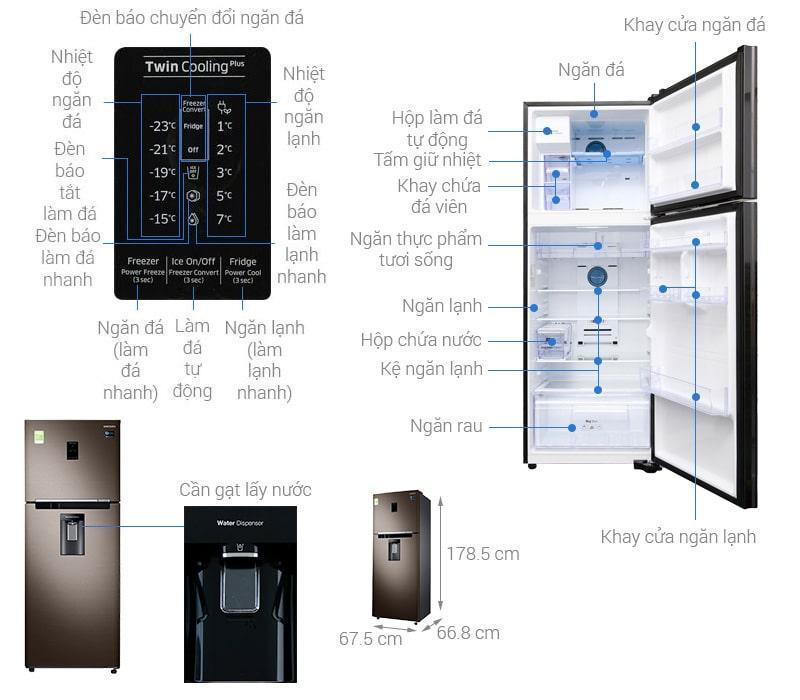 các bộ phận của Tủ lạnh Samsung RT38K5982DX/SV