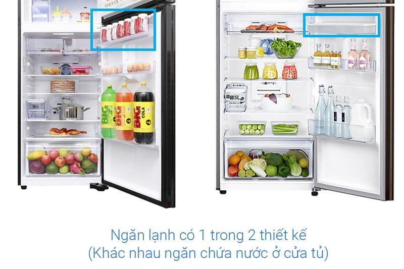 ngăn lạnh có 1 trong 2 thiết kế