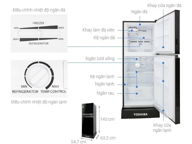 Các bộ phận hi tiết Tủ lạnh Toshiba GR-A25VM (UKG)
