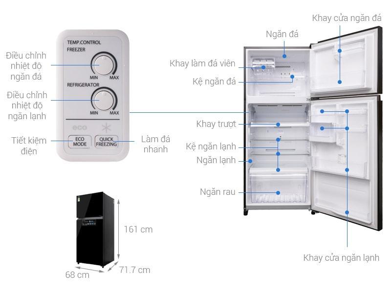 các bộ phận chi tiết của Tủ lạnh Toshiba GR-AG41VPDZ XK1