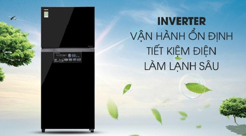 công nghệ inverter vận hành ổn định,tiết kiệm điện làm lạnh sâu