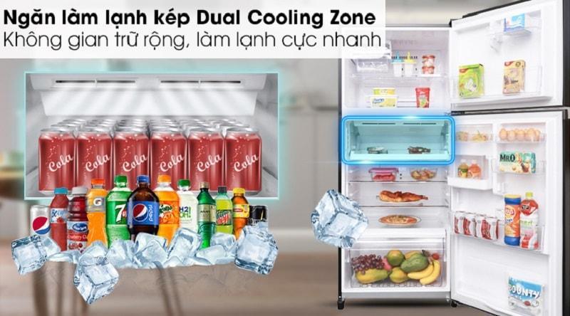 ngăn làm lạnh kép Dual Cooling zone làm lạnh cực nhanh