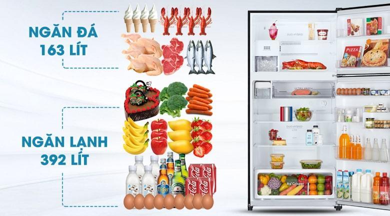 Tủ lạnh Toshiba GR-AG58VA (X) dung tích lớn