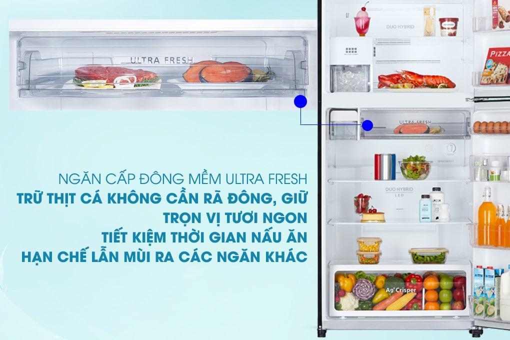 ngăn cấp đông mềm ULTRA FRESH trừ thịt cá không cần rã đông