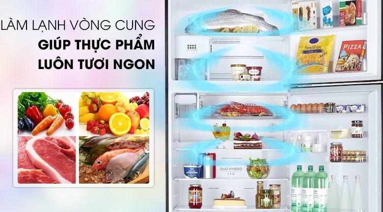 làm lạnh vòng cung giúp thực phẩm tươi ngon
