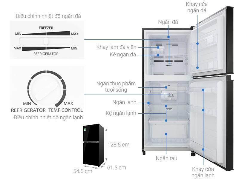 Các bộ phận chi tiết của Tủ lạnh Toshiba GR-B22VU UKG
