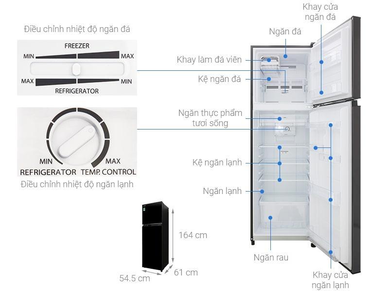 các bộ phận chi tiết của Tủ lạnh Toshiba GR-B31VU SK