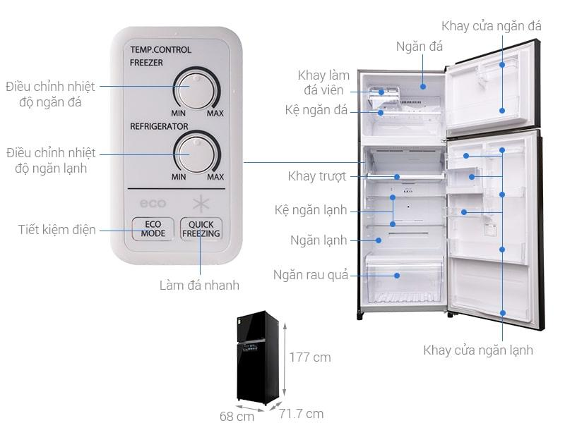 các bộ phận chi tiết của Tủ lạnh Toshiba GR-AG46VPDZ XK