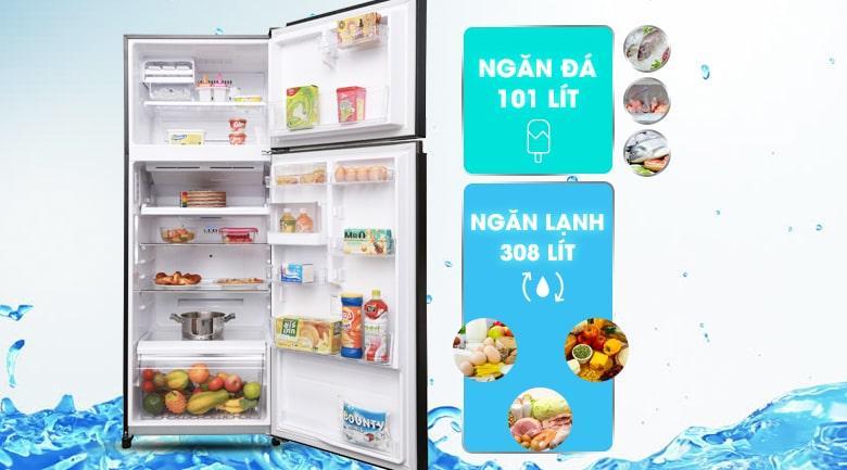 Tủ lạnh Toshiba GR-AG46VPDZ XK dung tích 409 lít