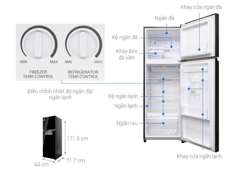 các bộ phận chi tiết của Tủ lạnh Toshiba GR-AG39VUBZ XK1