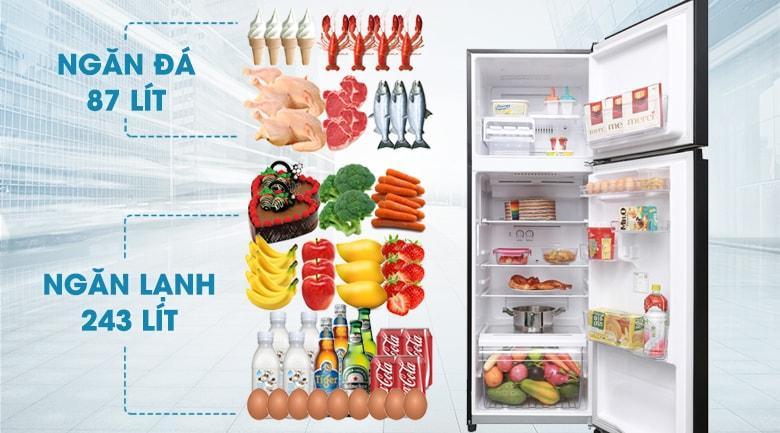 Tủ lạnh Toshiba GR-AG39VUBZ XK1 dung tích hơn 300 lít