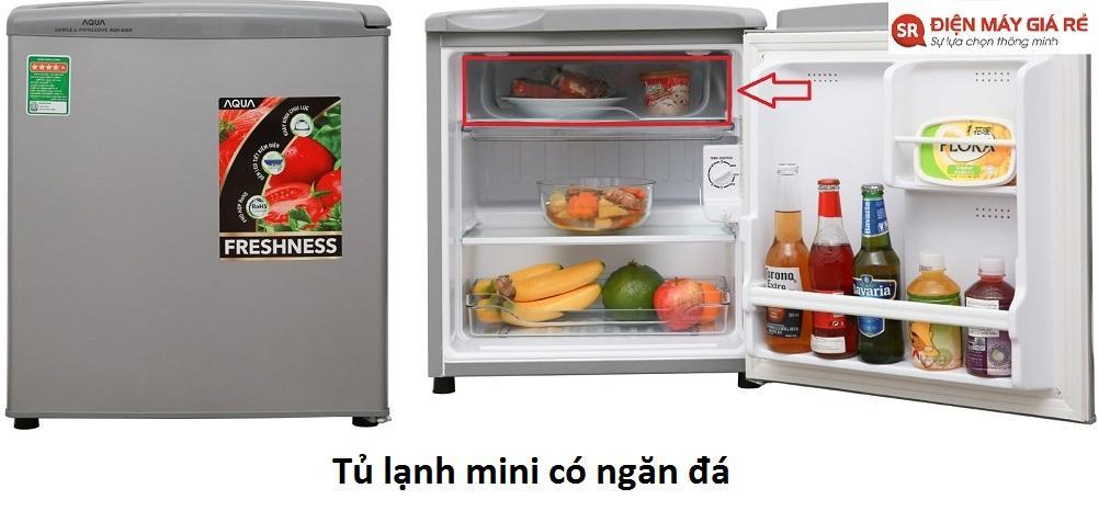 ngăn đá của tủ lạnh mini
