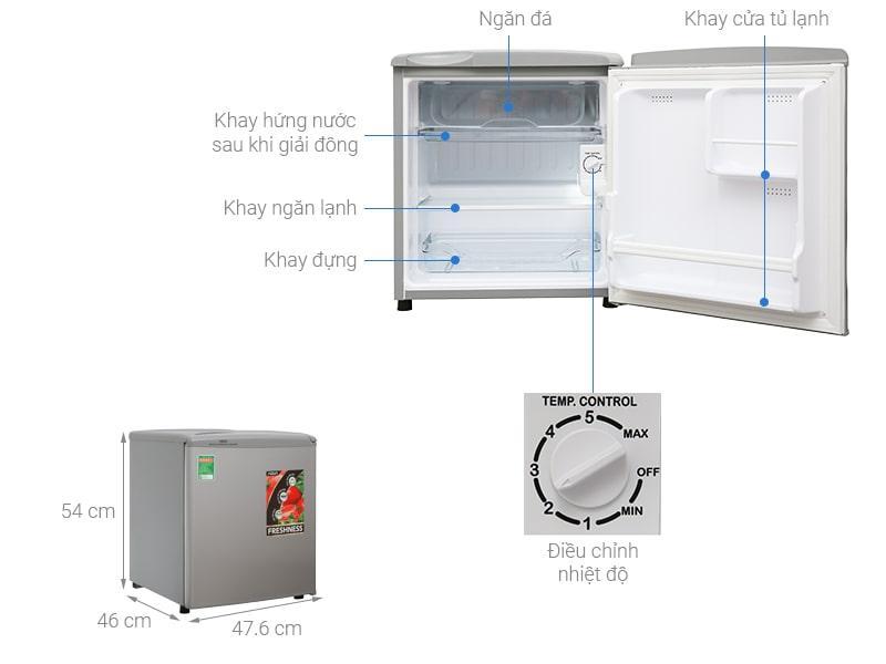 các bộ phận của Tủ lạnh Aqua AQR-55ER (SS)