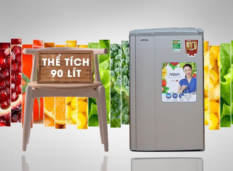 Tủ lạnh Aqua AQR-95AR thiết kế tiện lợi